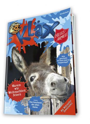 Titelbild der Sonderausgabe von Kläx zur Heilsarmee-Topfkollekte